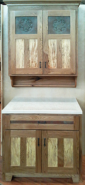 Rustic Painted Cabinets